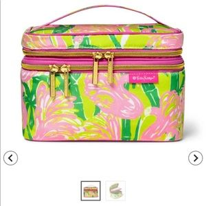 Lilly Pulitzer cosmetic train case or make up bag